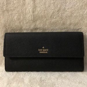 Kate Spade black large wallet